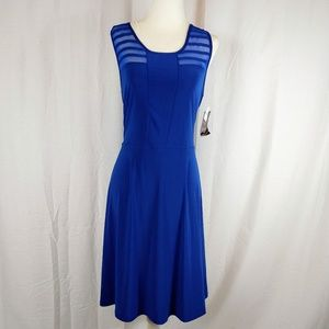 NWT Wrapper Royal Blue Mesh Cage Dress Size Large